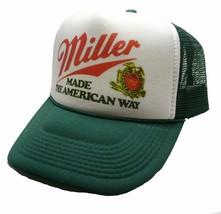 Miller Beer Trucker Hat Mesh Hat Snap Back Hat Adjustable Made the Ameri... - $24.74