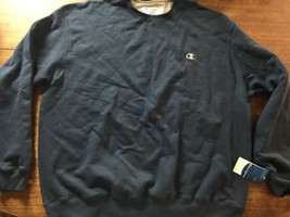 CHAMPION ECO NAVY MENS SWEATSHIRT SIZE 2XL NWT New Tags - $17.10