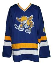 Walton  4 custom minnesota fighting saints retro hockey jersey blue   1 thumb200