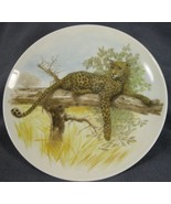 "Leopard Round 7.5"" Decorative Plate H Arndt Kaiser West Germany - $17.56"