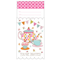 Tea Time Pop Up Invitation, Case of 48 - €27,81 EUR