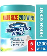 Disinfecting Wipes by Clean Cut, Fresh Scent, Value Size 200 Wet Wipes P... - $43.06