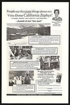Vista Dome California Zephyr 1964 Train Photo Ad Host M Martin Western P... - $9.99