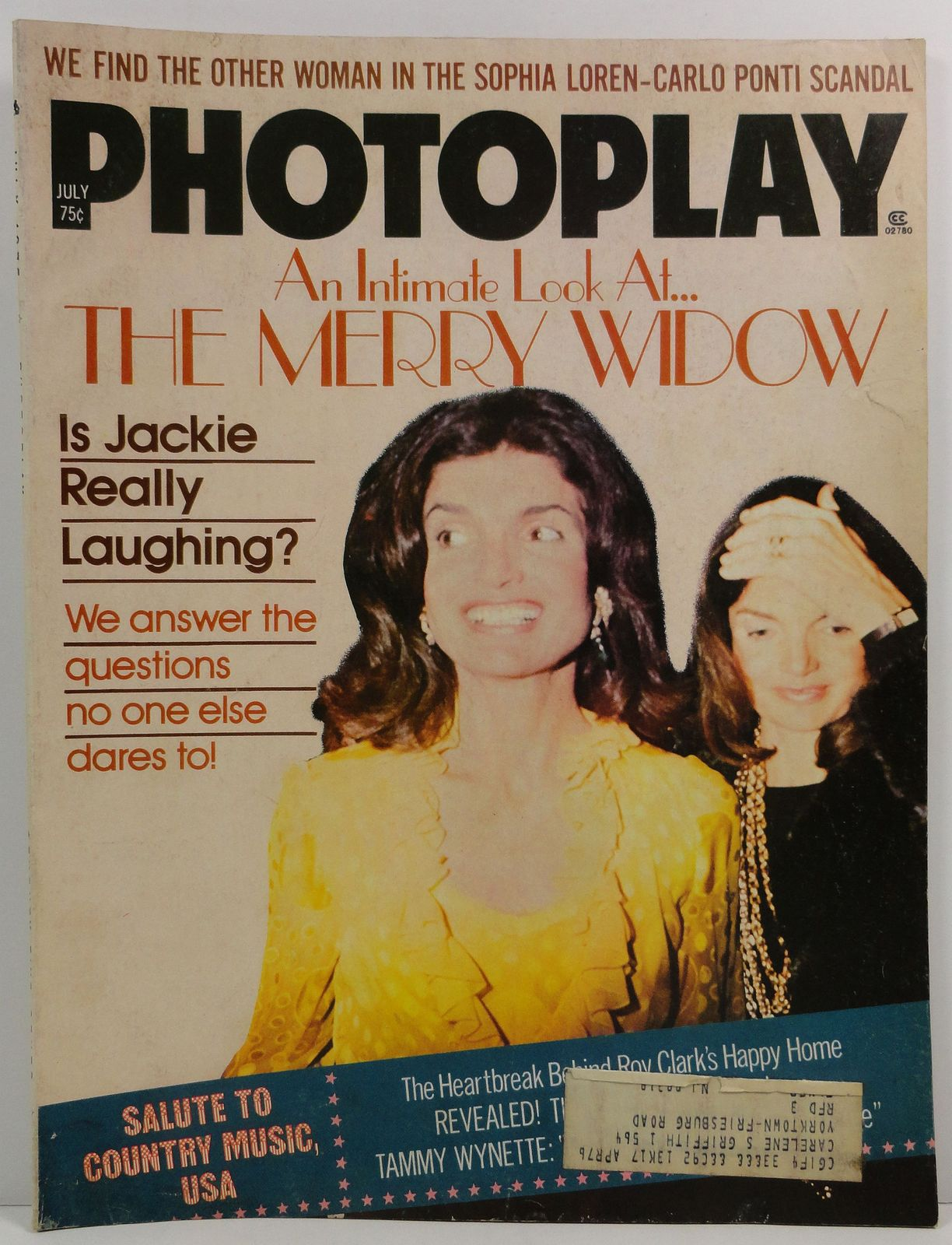 Photoplay Magazine July 1975 Jackie Onassis Cover