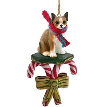 Conversation Concepts Chihuahua Brindle & White Candy Cane Ornament - $12.99