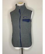 Patagonia Synchilla Women's Fleece Vest Sleeveless Full Zip Gray Sz XS - $29.95