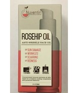 NEW In Box NUVENTIN Rosehip Anti-wrinkle Face Oil 2 Oz Helps Sun Damage Redness - $24.06