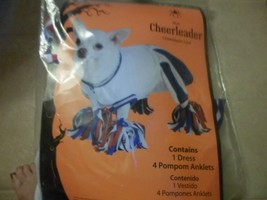 Cheerleader Dog Costume Halloween Xg NWT,blue white w red wht blue ankle... - $6.34