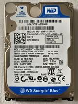 Genuine WD Western Digital Scorpio Blue HDD 250GB WD2500BEVT-75A23T0 - $32.71