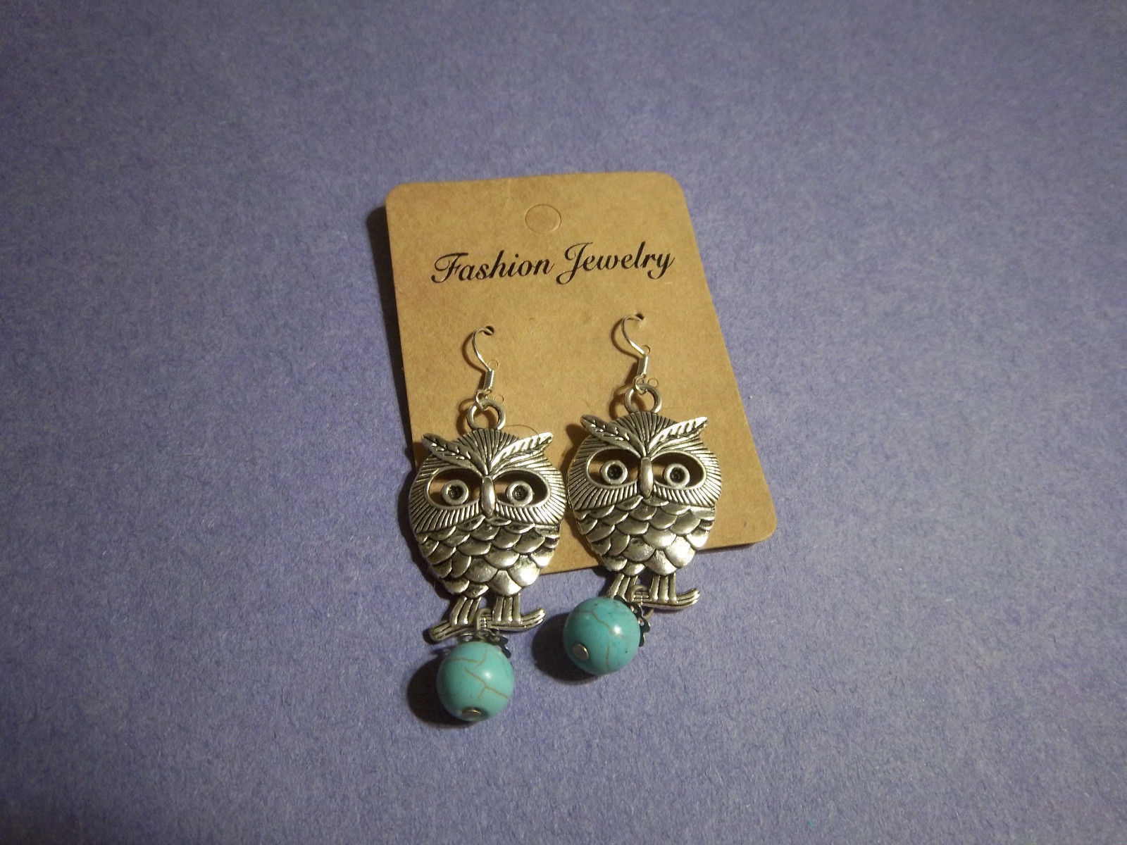 Primary image for OWL DANGLE EARRINGS                 COMBINED SHIPPING