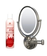 Zadro Lighted Oval Wall Mounted Makeup Mirror Cuccio Pomegranate & Fig B... - $128.69