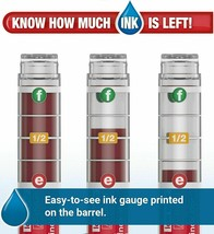 Expo Ink Indicator Dry Erase Markers, 4 Count Black, Blue, Red, Green Chisel Tip image 2