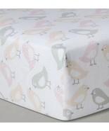 Cloud Island Blush Birds Fitted Baby Crib Sheet New Gray Girl - £7.22 GBP