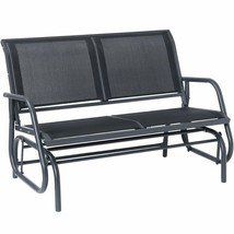 Outdoor Swing Glider Chair Patio Bench 2 Person Garden Rocking Comfortab... - $145.66+