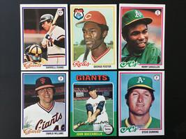 1978 & 1975 Topps Vintage Baseball Card Lot Foster Evans Sanguillen Gian... - $3.95