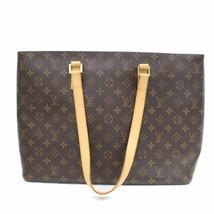 Louis Vuitton Brown Monogram Genuine Leather Luco Tote Bag Handbag 63755-B - $849.42