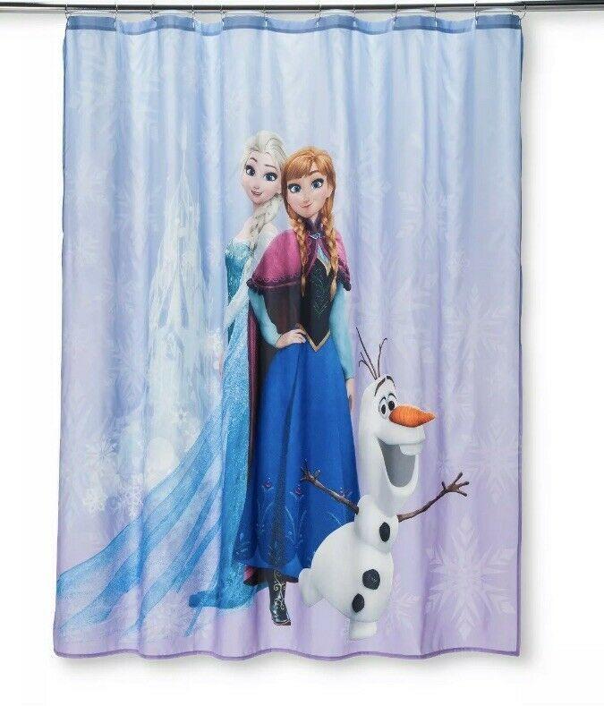 Disney Frozen Purple Shower Curtain 72in X 72in - $17.75
