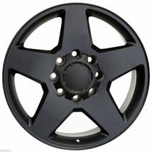 "Satin Matte Black 20"" 8 Lug 8-180 Wheels for 2011-2019 Chevy 2500 3500 Truck - $769.00"