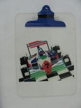 Vintage Clear Clipboard Racecar Used 1990 Sanrio - $14.84