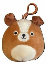 "Squishmallow Kellytoy 3.5 Inch Dog Clip On Keychain (3.5"" Bernie The St.... - $8.45"