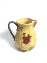 Harvest  Large Pitcher Thanksgiving Fall Autumn Green Fallen Leaves And ... - $33.95