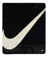 Nike Sportswear Plush Faux Fur Blanket CZ4549-010 Black Fossil Off White... - $287.10