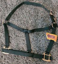 Abetta Double Ply Nylon Horse Halter Hunter Green NEW image 1