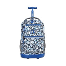 Rolling Backpack School Travel Zipper Closure Bag Durable Wheels T-shape... - $66.99