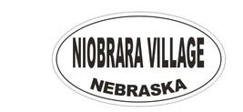 Niobrara Village Nebraska Bumper Sticker or Helmet Sticker D5344 Oval - $1.39+