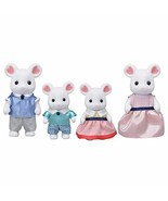 Calico Critters, Marshmallow Mouse Family, Dolls, Dollhouse Figures, Col... - $27.99