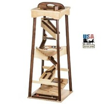 "40"" Tall Marble Pyramid Run Large Wood Toy With Marbles Maple Walnut Finish Usa - $356.37"