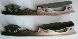 Set of 19th Century Painted Cast Iron Ice Skates, 9 in. long - $45.60