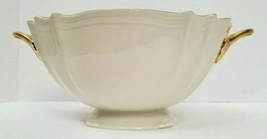 Lenox Valencia Large Bowl 24K Gold Trim Made in USA Mint Condition - $138.59