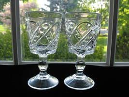 U.S. GLASS ANTIQUE EAPG PEAS & PODS Wine Goblets - Pr. - $18.00