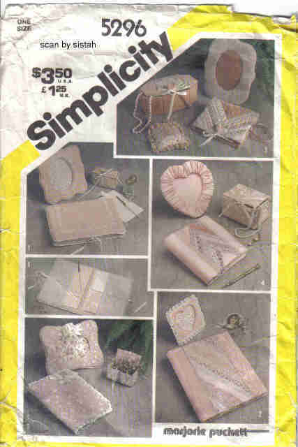 Simplicity 5296  Pattern picture frame photo album trinket box craft vintage Simplicity