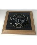 1980 Herman Joseph's Special Premium Beer 1868 Wood Framed Sign Vintage ... - $34.85