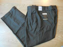 Croft & Barrow Men Dress Pants Size 40 x 32 Teak Brown Wool Blend Wrinkl... - $49.99