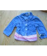 Girls Cherokee Blue Jean Shirt Size 5T 5 Top Bl... - $9.89
