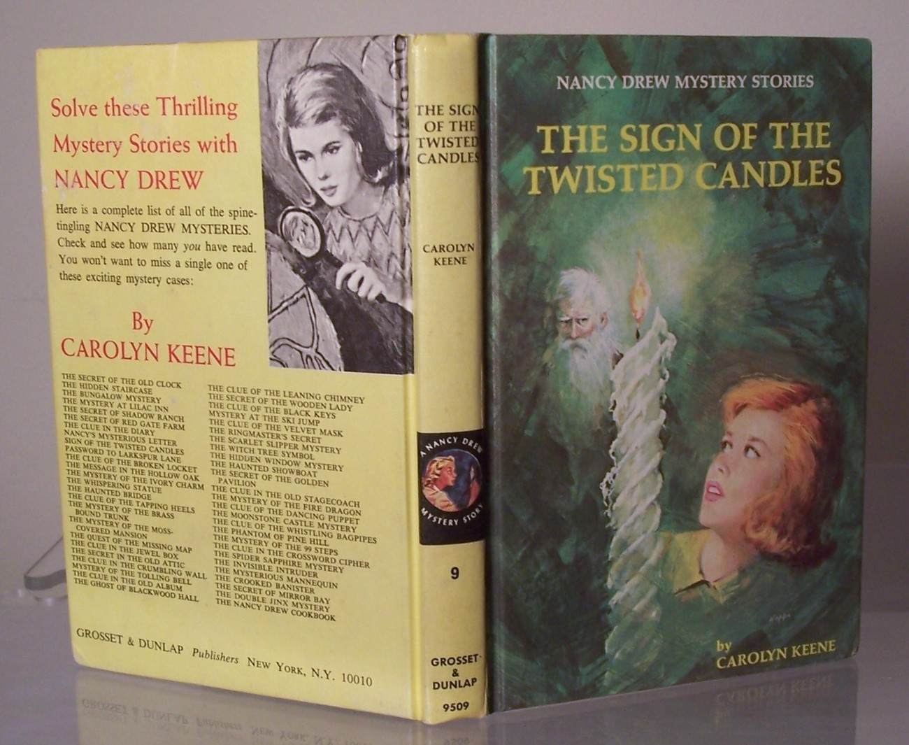 Nancy Drew #9 The Sign of the Twisted Candles Vintage PC