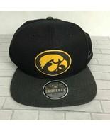 Iowa Herky Hawk Hawkeyes NCAA Black Zephyr Snapback Collection Cap Hat O... - $17.99