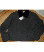 Talbots ladies Wool Silk Coat Jacket Size 12 Removable Faux Fur Collar H... - $78.37