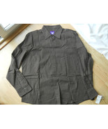 William W Men Dress Shirt Brown square Size XL ... - $24.74