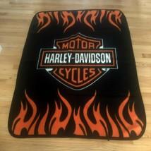 "HARLEY-DAVIDSON SUPER SOFT PLUSH WARM THROW BLANKET 46"" x 51"" - $34.95"