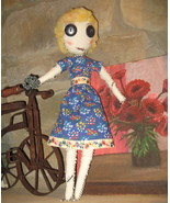 "17"" OOAK - Primative rag doll - COMING APART AT THE SEAMS - #4 , named P... - $40.00"