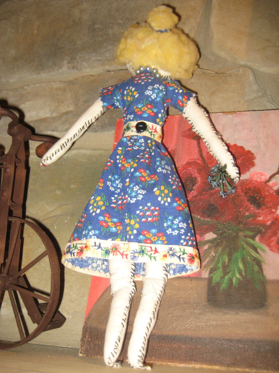 "17"" OOAK - Primative rag doll - COMING APART AT THE SEAMS - #4 , named PENELOPE"