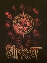 Slipknot T-shirt Men's Large L Nu Metal Hardcore Group Rare Masks Gold Red - $14.50