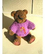 Clay Bear Figurine w/Hand-made Sweater  - $10.00