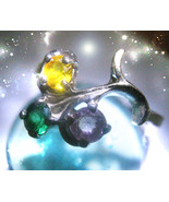 Haunted RING 3 QUEENS FAIRY MUSE AND GUARDIAN 3 SPIRITS VESSEL MAGICK Ca... - $80.77