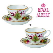 ROYAL ALBERT TEA CUP SET OF 2 FOR CHRISTMAS - $65.00