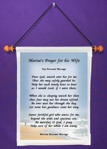 Marine's Prayer for His Wife - Personalized Wall Hanging (575-1) - $18.99